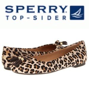 Sperry Bliss Pony Hair Leopard shoes